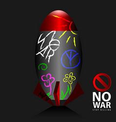 Stop war vector image vector image