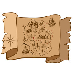 treasure map on old paper vector image