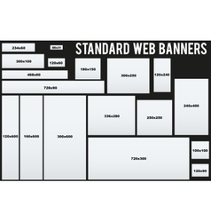 Standard web banners templates vector
