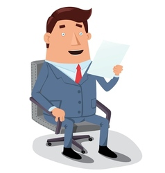 Man reading document vector image