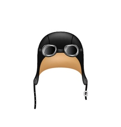 Retro hat in black design and goggles vector image