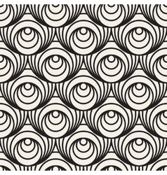 Seamless Black And White Concentric Circles vector image