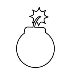 Boom alert isolated icon vector