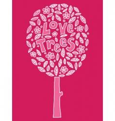 love trees vector image