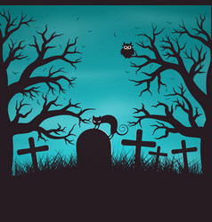 Halloween night background in wood vector