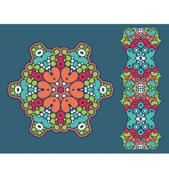 Decoration ring and psychedelic seamless pattern vector