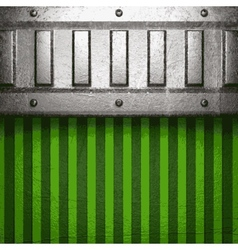 metal on green background vector image