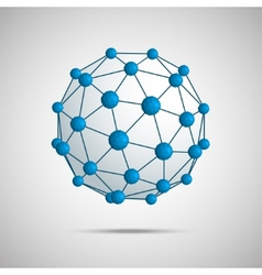 3D of sphere vector image