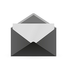 Black envelope and paper vector