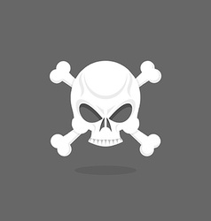 Jolly roger skull and bones pirate flag vector
