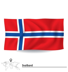 Flag of svalbard vector