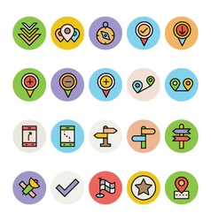 Map and navigation icons 4 vector