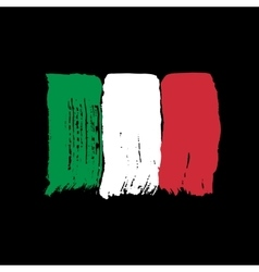 Flag of italy on a black background vector