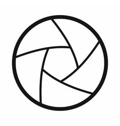 Camera shutter aperture icon simple style vector