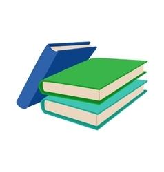 Three colored books icon cartoon style vector image