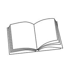 Book icon outline style vector