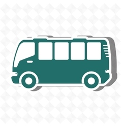 Travel by bus design vector
