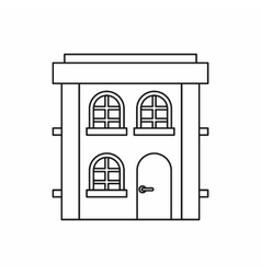 Two storey house icon outline style vector