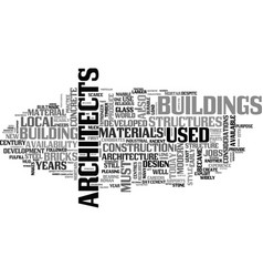 architecture and architects jobs text word cloud vector image vector image