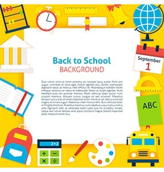 Back to School Paper Concept vector image