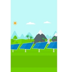 Background of solar power station in the mountain vector image