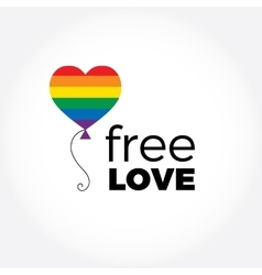 Balloon in rainbow colors LGBT support symbol vector image vector image
