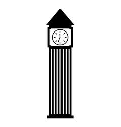 Big ben building isolated icon vector