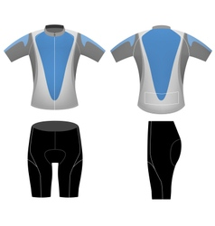 Blue cycling clothing vector