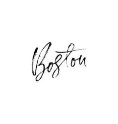 Boston usa city typography lettering design vector