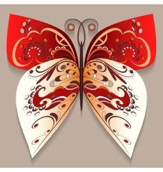 Bright decorative butterfly vector image vector image