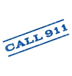 Call 911 watermark stamp vector