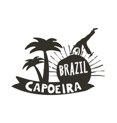 Capoeira brazilian dance of african origin poster vector