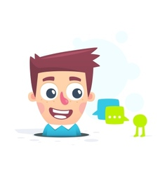 chat application vector image