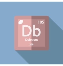 Chemical element Dubnium Flat vector image vector image