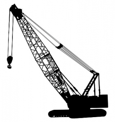 crawler crane vector image