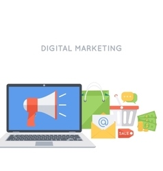 Digital marketing background vector image