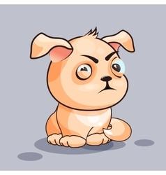 Dog is squints vector