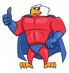 Eagle superhero thumb up gesture 2 vector