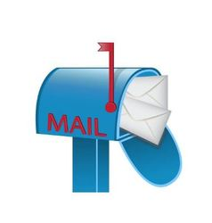 envelopes in the mailbox vector image
