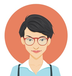 Geeky Girl vector image vector image