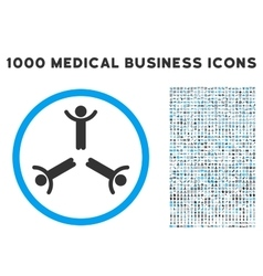 Hands Up Men Icon with 1000 Medical Business vector image vector image