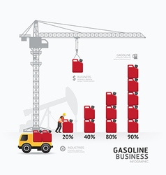 Infographic business gasoline graph template vector image vector image