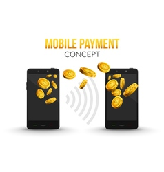 Mobile payment concept design template mobile vector