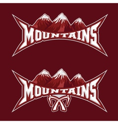 Mountains sport team emblem design template vector