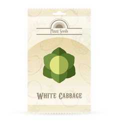 pack of white cabbage seeds vector image