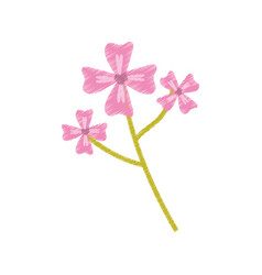 Pink flower decoration image sketch vector