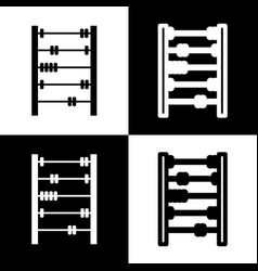 Retro abacus sign black and white icons vector
