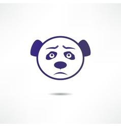 Sad panda vector image vector image