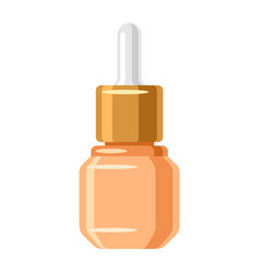 Serum for face of object on white vector