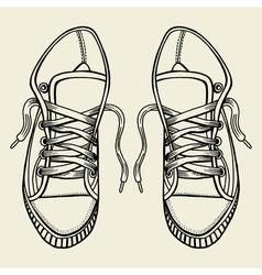 Sketch sneakers vector image vector image
